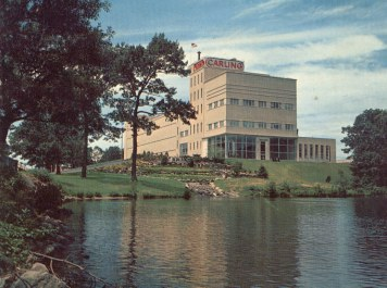 Carling Brewery building on Lake Cochituate