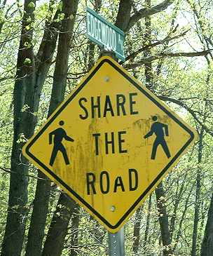 """Share The Road"" - with pedestrians?"